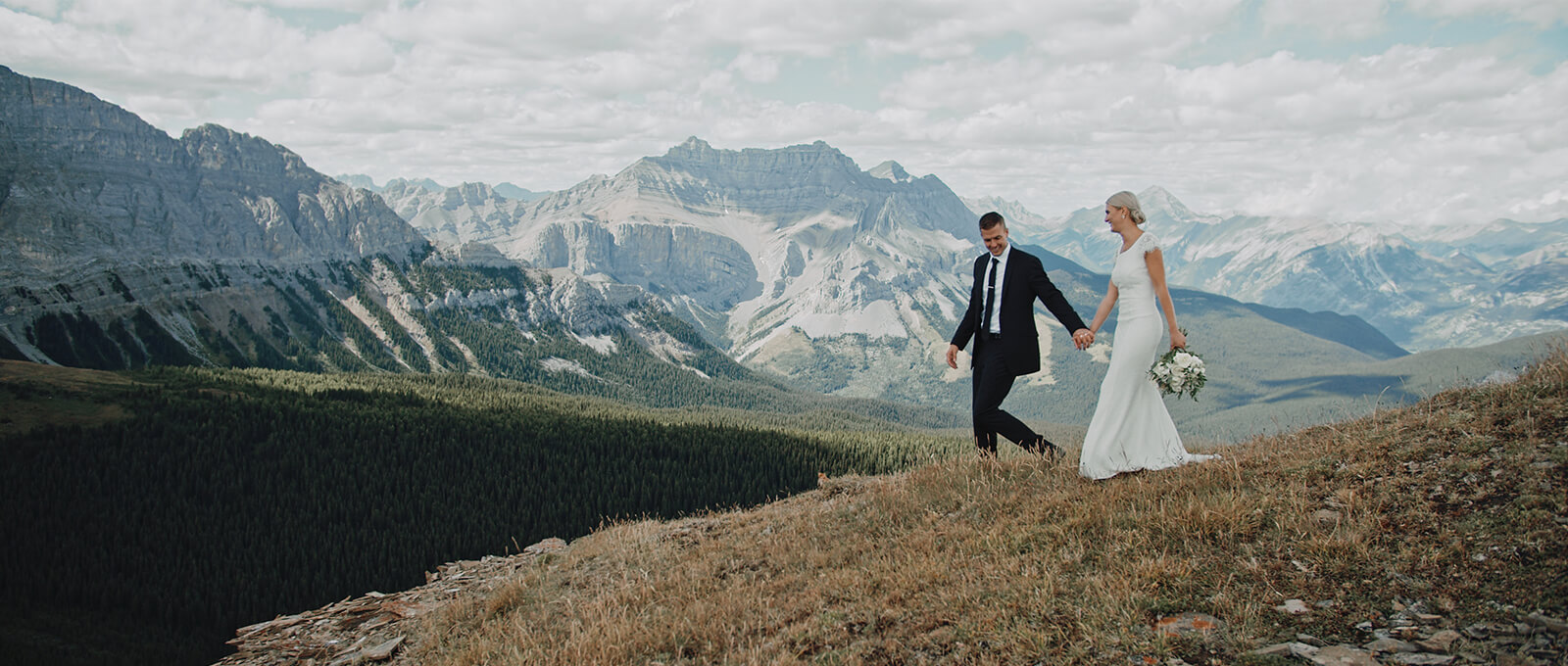 Landyce and Blayne's Canmore helicopter elopement
