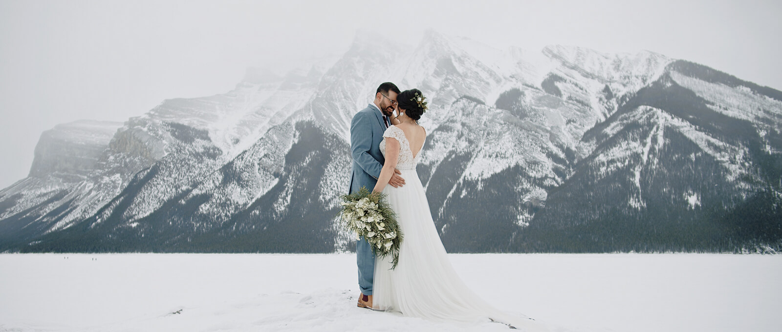 Amy and Dan's intimate Banff elopement film