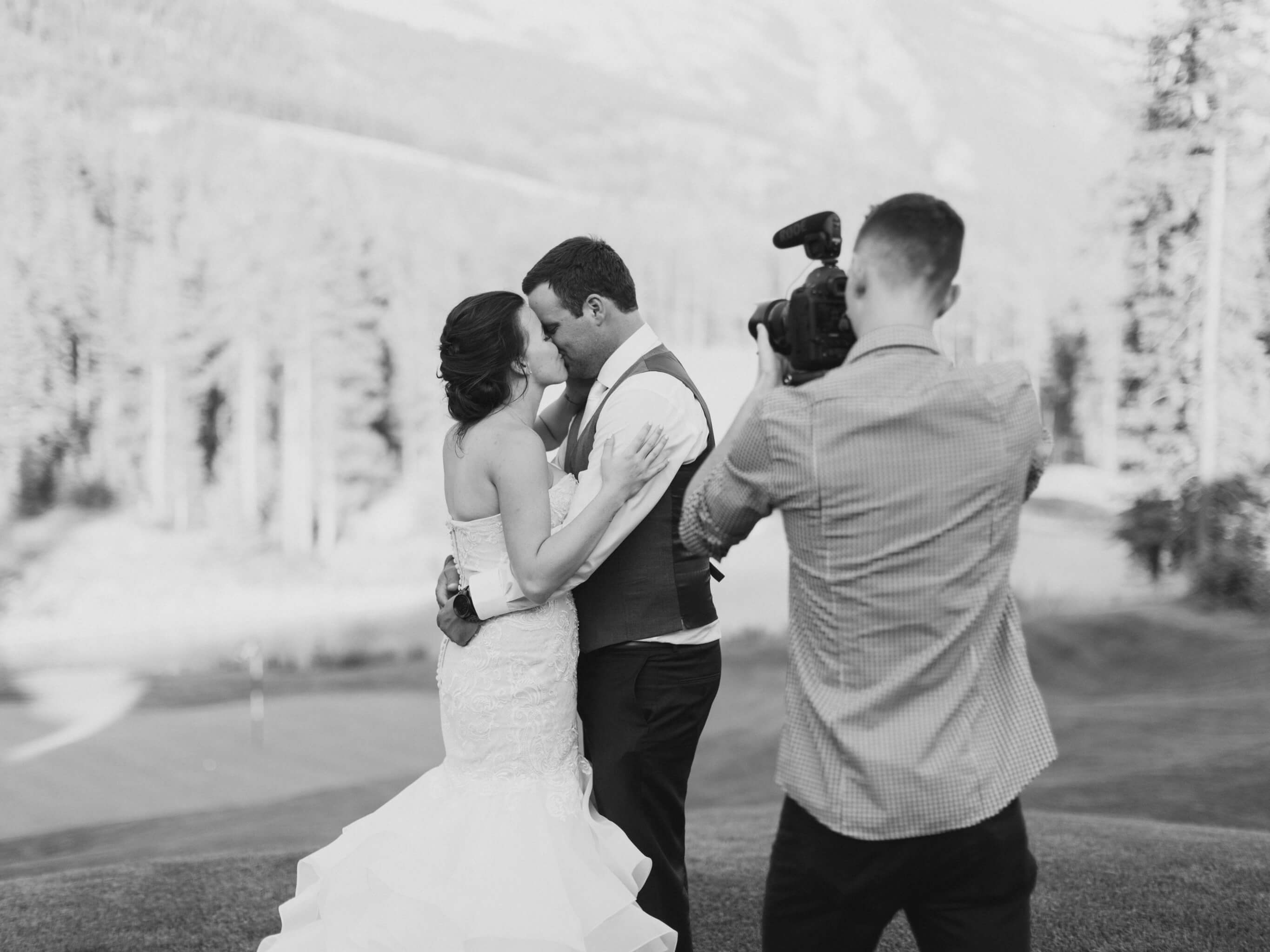 portrait of calgary wedding videographer