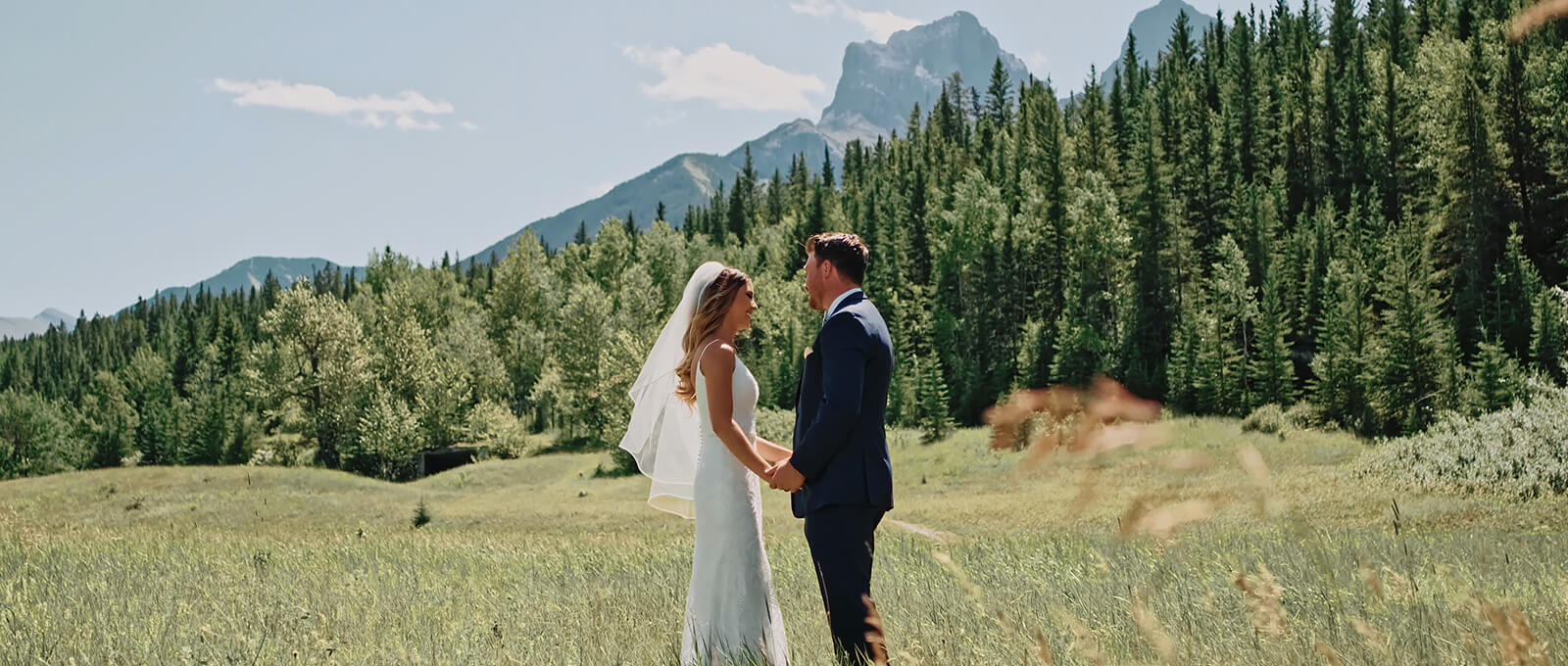 Cara and Riley's wedding video with Canmore wedding videographer