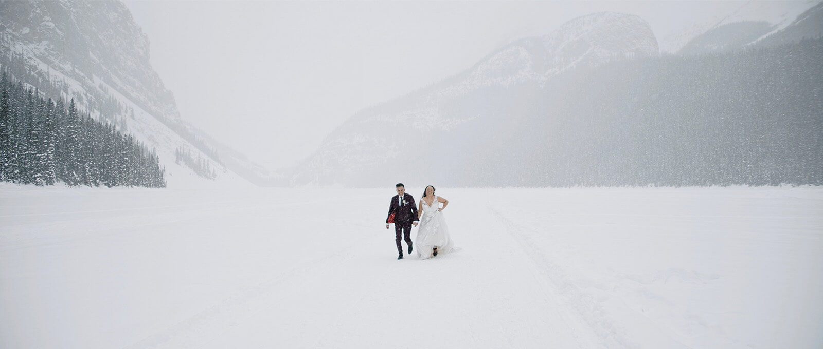 Sam and Collin intimate wedding at lake louise